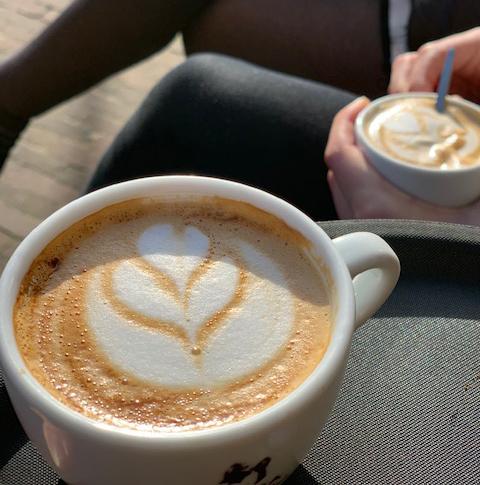 koffie, Gonzalez, Bergen, latte