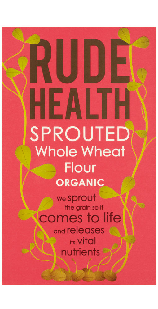 sprouted tarwebloem Rude Health