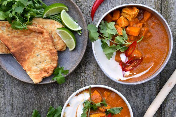 Zoete aardappel, curry, kookboek