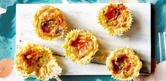 Snackrecept van Carolina van Foodie-ness: veggie muffins met cottagecheese