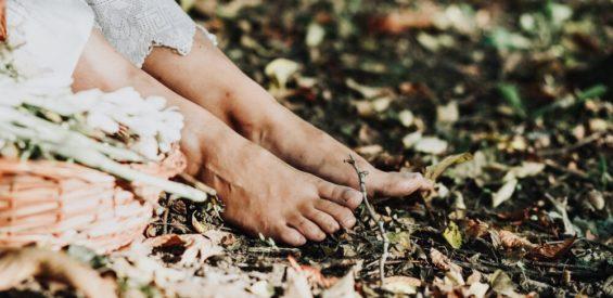 voeten herfst