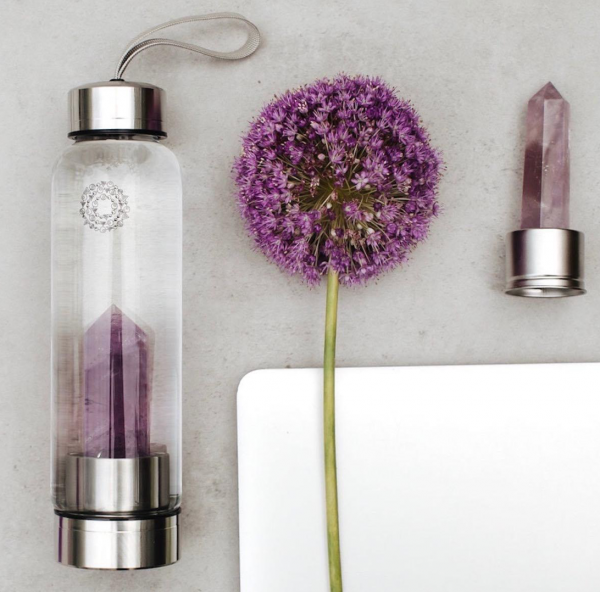 Amethyst Gem-Infusion Water Bottle Manipura