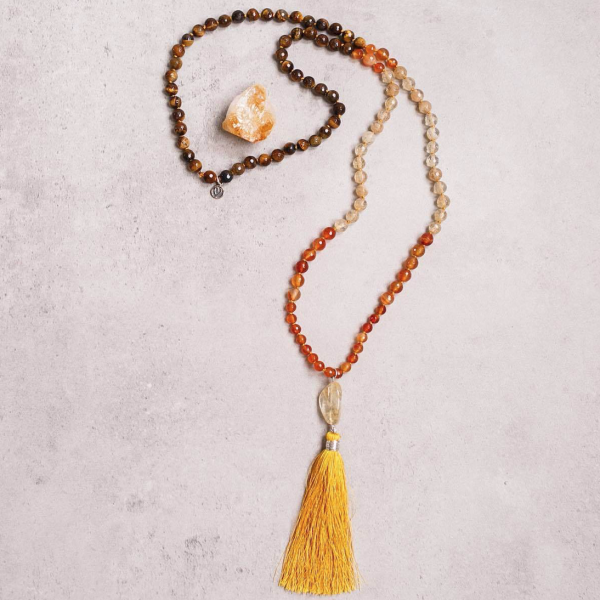 Autumn Love Gemstone Mala Manipura