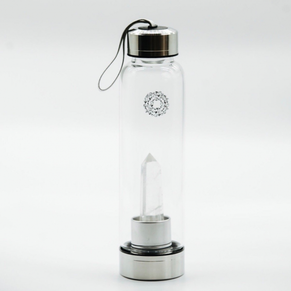 Crystal Quartz Gem-Infusion Water Bottle