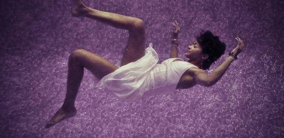 Falling woman