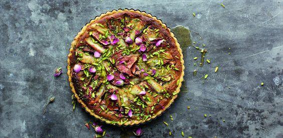 Frivool Frans kerstrecept: vijgentaart met pistachenootjes & halloumi