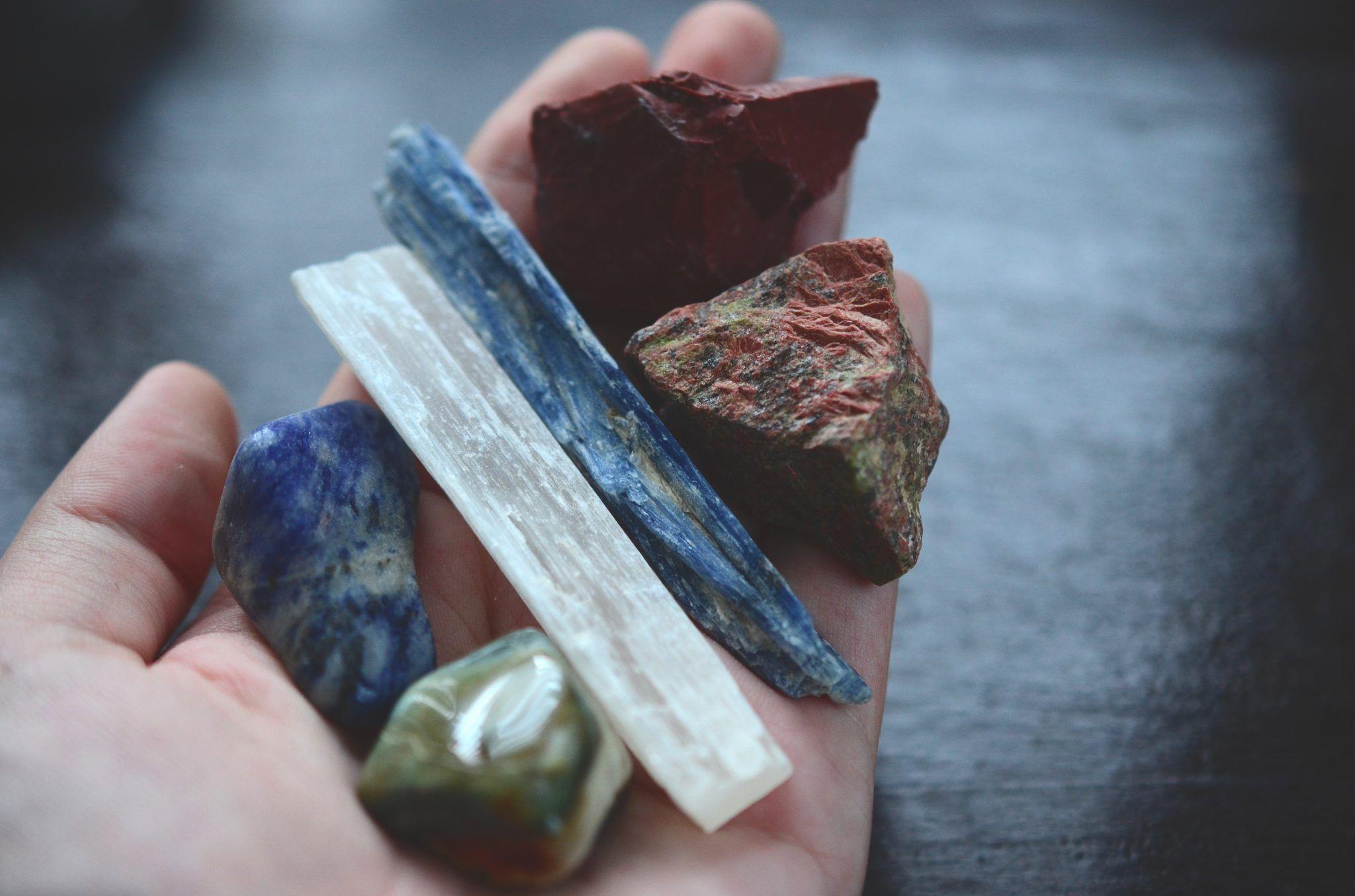 Seleniet, steen, maan