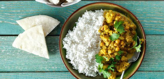ayurveda bloemkool curry, vegan recept