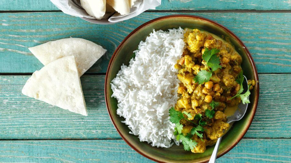 ayurveda bloemkool curry, vegan recept