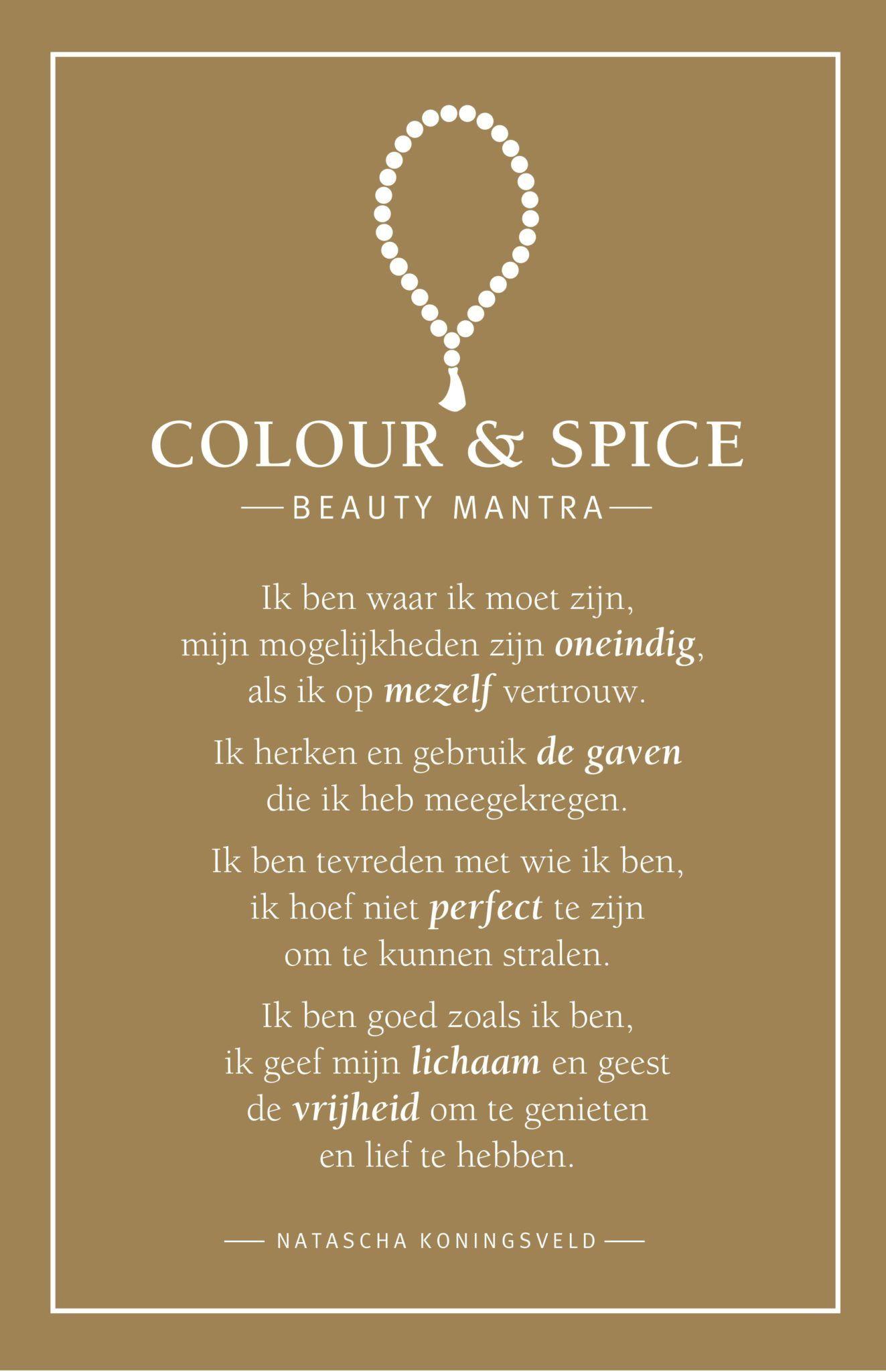 colour spice, holistic skincare, beauty mantra