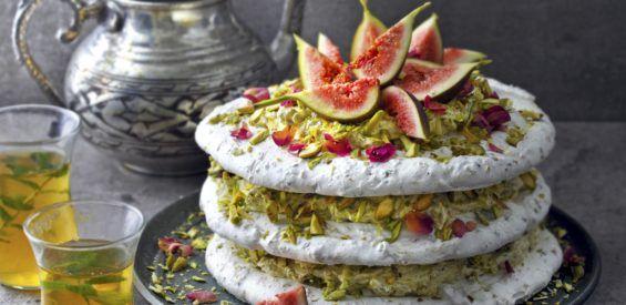 Recept: vegan pistache-schuimtaart met aquafaba