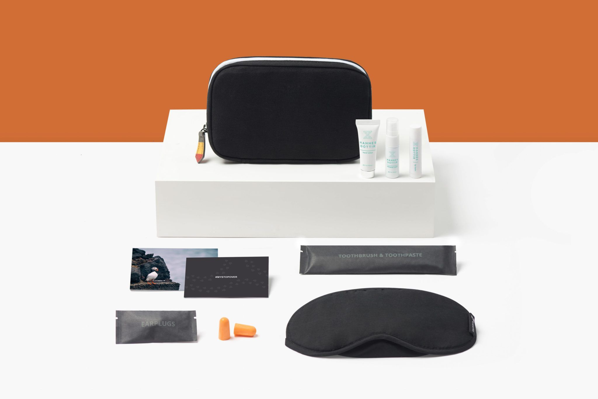 Icelandair, amenity kit, hannes dottir