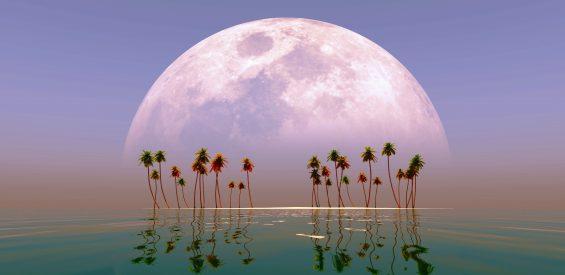 Déze meditatie muziek brengt je binnen 10 minuten naar een sprookjesachtig maanlandschap