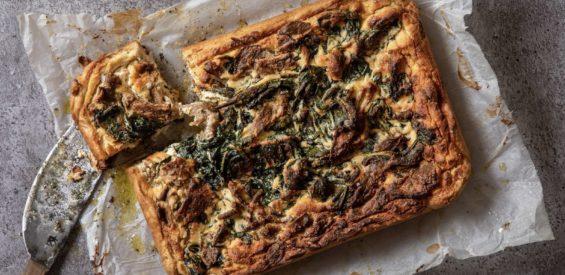 Vegan recept voor meer energie: quiche met spinazie & oesterzwammen