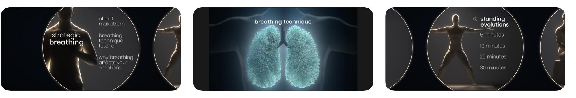 max strom, strategic breathing, app, angst, adem