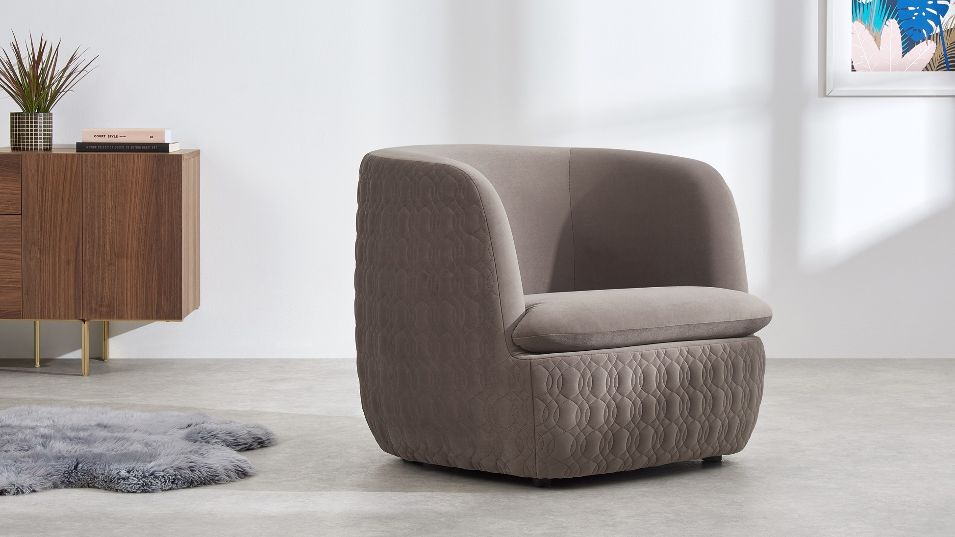 Leuke Design Fauteuil.Verlopen Win Made Com Fauteuil Van Zacht Fluweel T W V 499