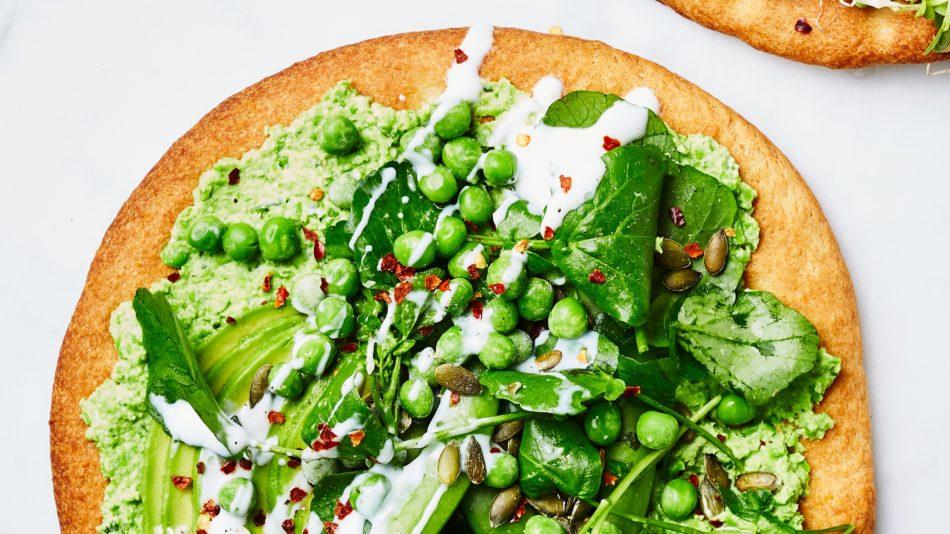 groene pizza