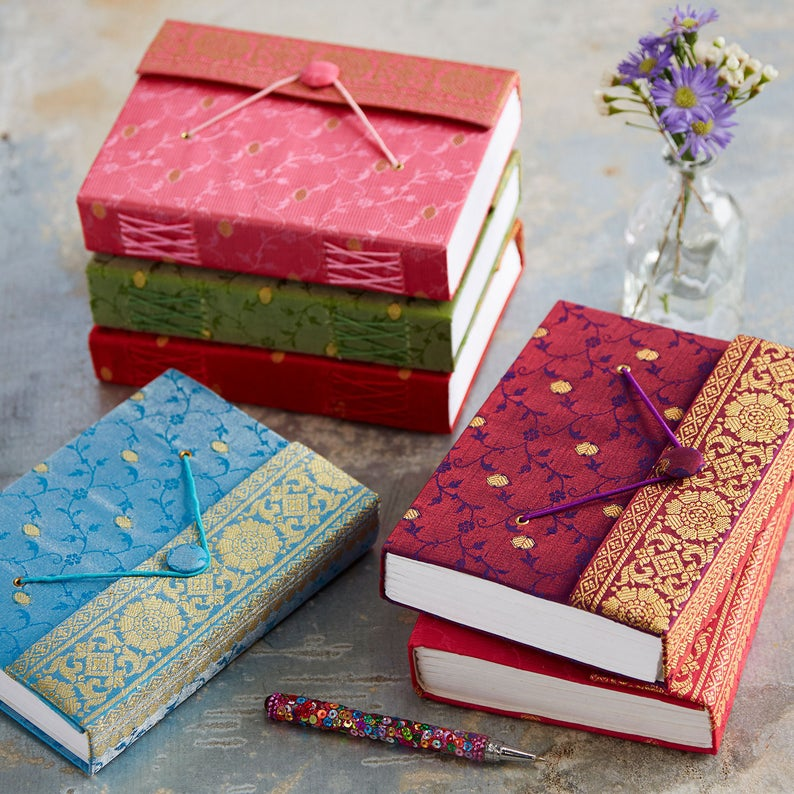 sari journal etsy