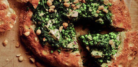 Snel Arabisch recept: gevuld Turks brood met feta en spinazie