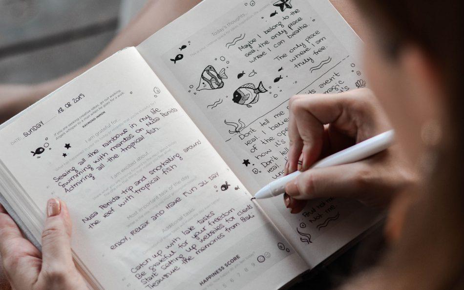 expressief schrijven, journalen, hoe was je dag, boek